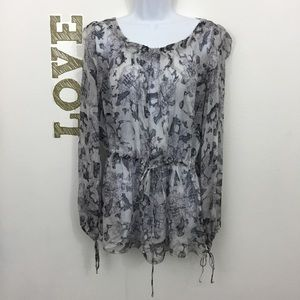 JOHNNY WAS 4 LOVE AND LIBERTY VINTAGE PRINT TOP